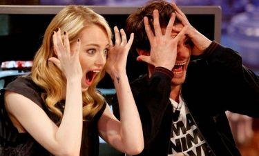 Γιατί τρόμαξαν η Emma Stone και ο Andrew Garfield;
