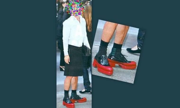 Τα εκκεντρικά παπούτσια του…