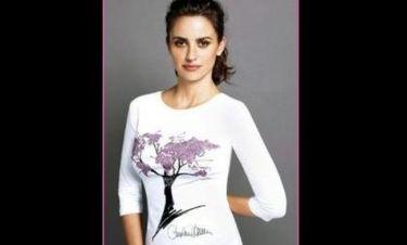 Η Penelope Cruz διαφημίζει μπλουζάκι για φιλανθρωπικό σκοπό