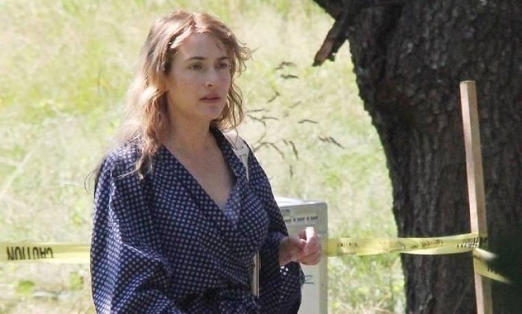 Η Kate Winslet στα πλατό της νέας της ταινίας