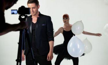 Φωτογραφίες από τα backstage του βιντεοκλίπ του Μιχάλη Χατζηγιάννη