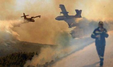 Χάλασαν 6 από τα 8 αεροσκάφη στην πυρκαγιά της Αχαΐας