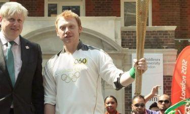 Ο Rupert Grint με την Ολυμπιακή Φλόγα