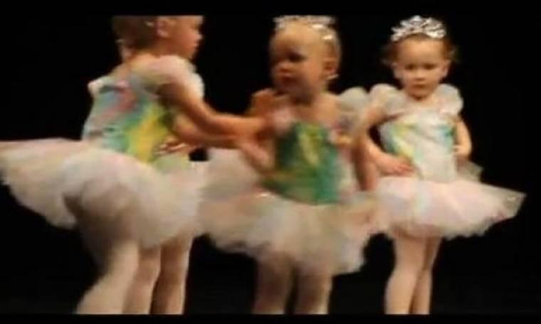 Απρόβλεπτος καβγάς σε ρεσιτάλ χορού 2χρονων!