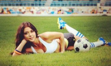 Ξέρει και από μπάλα η Celeste (photos)