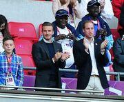 David Beckham: Με τον πρίγκιπα William και το γιο στο γήπεδο