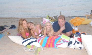 Happy family in Mykonos