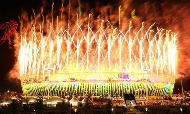 Η φαντασμαγορική τελετή λήξης των Ολυμπιακών Αγώνων σε φωτογραφίες