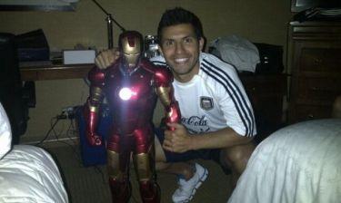 Iron Man ο Σέρχιο Αγκουέρο