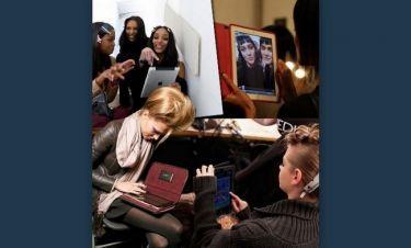iPad: το αγαπημένο gadget των top models στα παρασκήνια