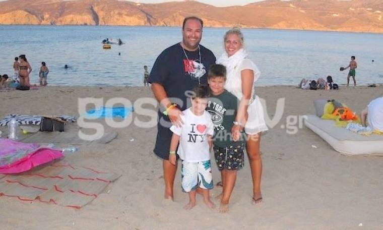 Σωτήρης Βάκαρος: Διακοπές στη Μύκονο με την οικογένειά του