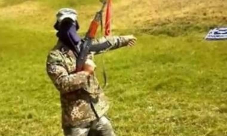 Βίντεο: Αλβανοί πυροβολούν με καλάσνικοφ την ελληνική σημαία