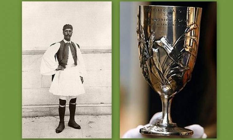 Το κύπελλο του Σπύρου Λούη στο Μουσείο της Ακρόπολης
