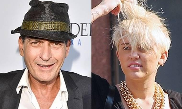 Αφού ο Charlie Sheen εγκρίνει το κούρεμα της Miley Cyrus, τότε εντάξει!