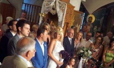 Οι πρώτες εικόνες από τον γάμο της Ντόρας Κουτροκόη
