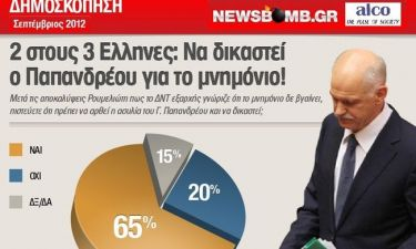 65% των Ελλήνων: Να δικαστεί ο Γ. Παπανδρέου για το μνημόνιο!