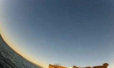 Κλέφτης... γλάρος με κάμερα στο στόμα (video)