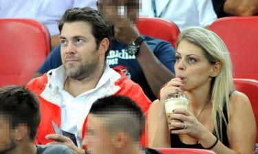 Χρήστος Χολίδης: Με την κουμπάρα του στο γήπεδο