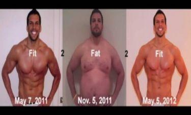 Βίντεο: Γυμναστής έγινε παχύσαρκος και ξανά γυμνασμένος σε 1 χρόνο!