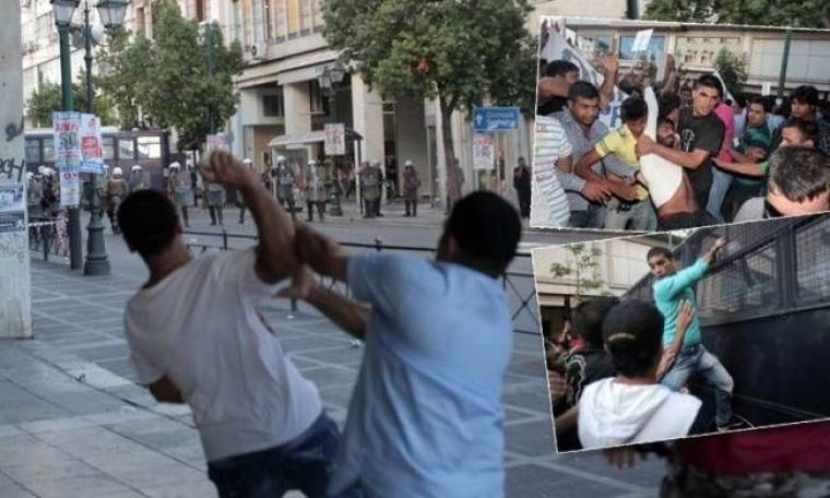 Επεισόδια μεταξύ μουσουλμάνων και ΜΑΤ στη Σταδίου