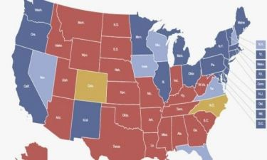 Εκλογές ΗΠΑ 2012: Ο εκλογικός χάρτης δείχνει νίκη Ομπάμα