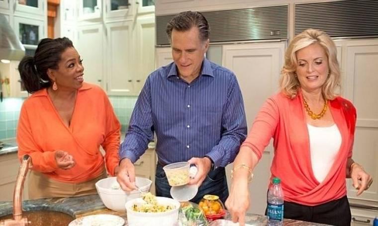 H Oprah έβαλε τον Mitt Romney στην κουζίνα
