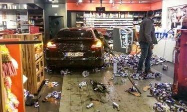 Σοκαριστικό τροχαίο με ποδοσφαιριστή και θύμα πελάτη σε βενζινάδικο!