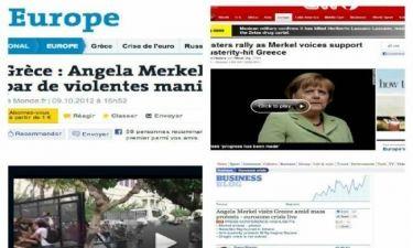 Επίσκεψη Μέρκελ: Τι γράφουν τα διεθνή ΜΜΕ