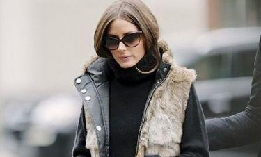 Olivia Palermo: Φθινοπωρινή διάθεση με γούνινο αμάνικο