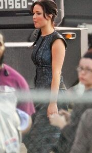 Η Jennifer Lawrence στα πλατό του Hunger Games 2