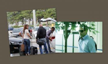 Με διαφορετικές πτήσεις, αλλά μαζί στη Θεσσαλονίκη η Παπαρίζου με τον σύντροφό της!