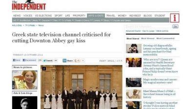 Και στην «Independent» το λογοκριμένο gay φιλί της ΝΕΤ!