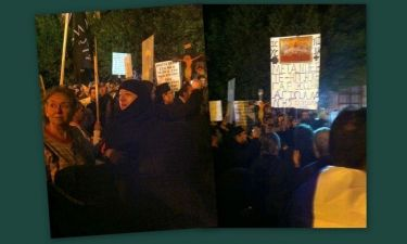 Συμβαίνει τώρα: Ιερωμένοι διαδηλώνουν έξω από το Χυτήριο για την παράσταση Corpus Christi