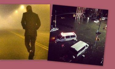 Φωτογραφίες διάσημων Ελλήνων στο twitter για τον τυφώνα Σάντυ