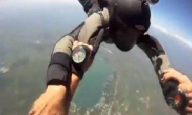 Συγκλονιστικό βίντεο: Παραλίγο τραγωδία με αλεξίπτωτο!