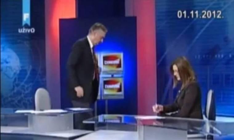 Βίντεο: Λιποθύμησε υπουργός κατά τη διάρκεια συνέντευξης