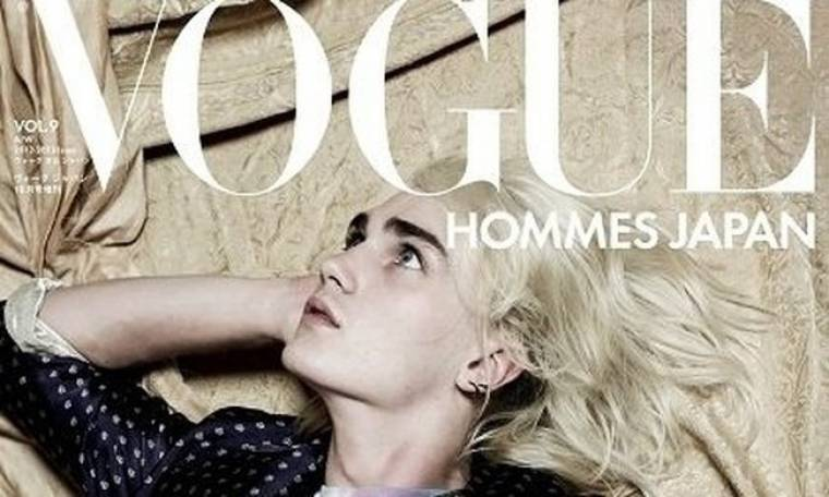 Αυλαία για την ιαπωνική έκδοση της ανδρικής Vogue