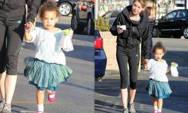 Ellen Pompeo: Διακοπή από τα γυρίσματα για να περάσει λίγες ώρες με τη Stella