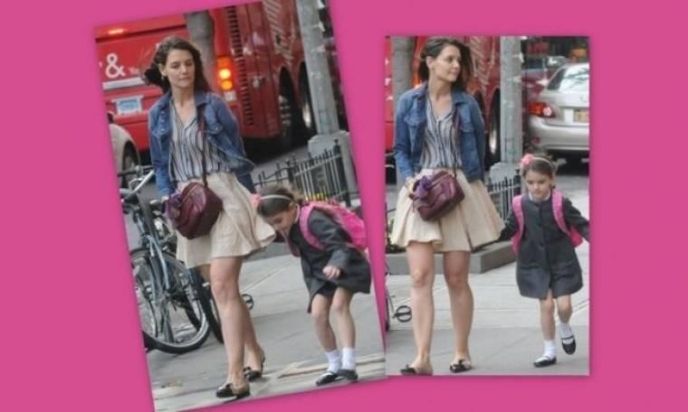 Katie Holmes: Βόλτα και παιχνίδι μετά το σχολείο με την μονάκριβη της!