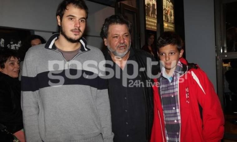 Γιώργος Παρτσαλάκης: Με τους γιους του στο θέατρο!