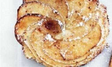 Γρήγορες τάρτες μήλου σε ψωμάκια brioche