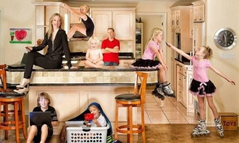 Οικογενειακές φωτογραφίες που αψηφούν τους νόμους της βαρύτητας!