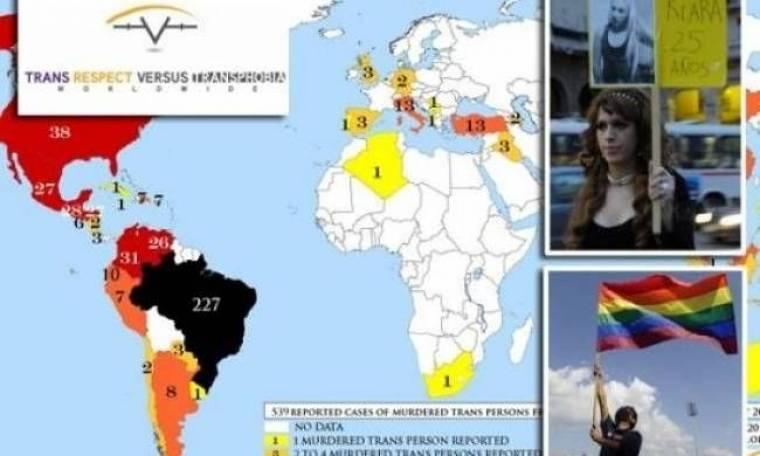 Σε 4 χρόνια έχουν δολοφονηθεί 1083 τρανσέξουαλ