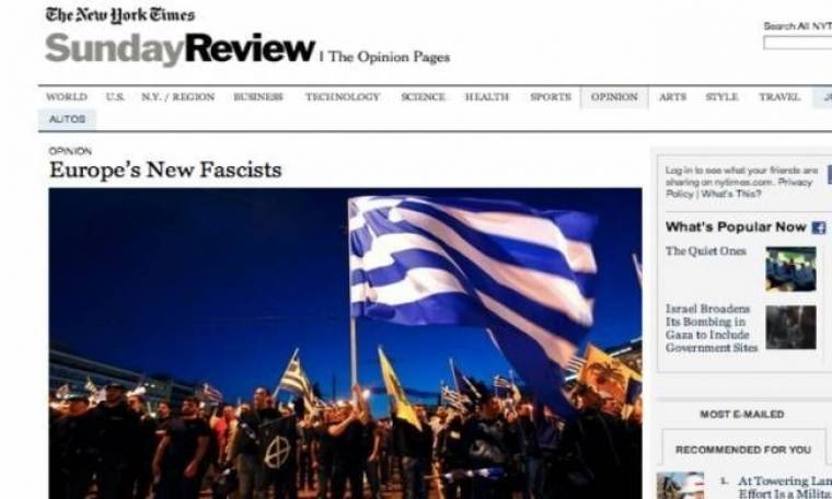 NY Times: Επίθεση της εφημερίδας στη Χρυσή Αυγή