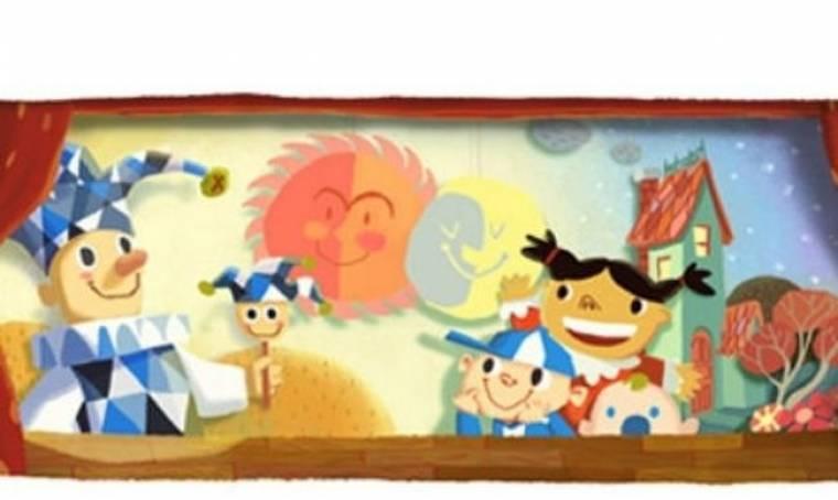 Το χαρούμενο παιδικό λογότυπο της Google