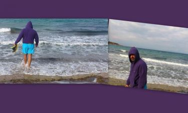 Ο Σπύρος Χαριτάτος «βούτηξε» στα παγωμένα νερά! (φωτό)