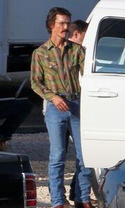Jennifer Garner και Jared Leto στα πλατό του Dallas Buyers Club