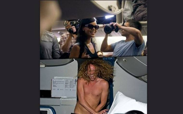 Έκπληξη σοκ για τη Rihanna: ολόγυμνος δημοσιογράφος μέσα στην ίδια πτήση
