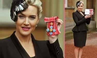 Η Kate Winslet πήρε μετάλλιο από τη Βασίλισσα Ελισάβετ!