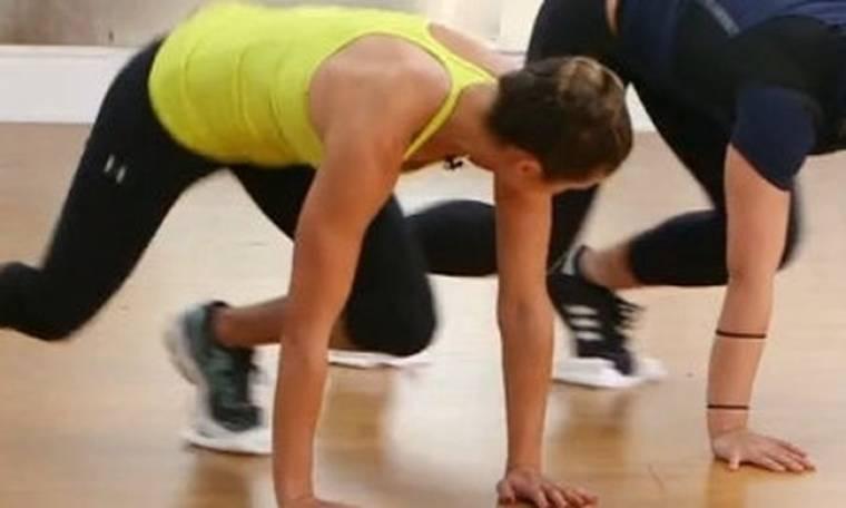 Γυμναστική με μία πετσέτα από την trainer της Madonna